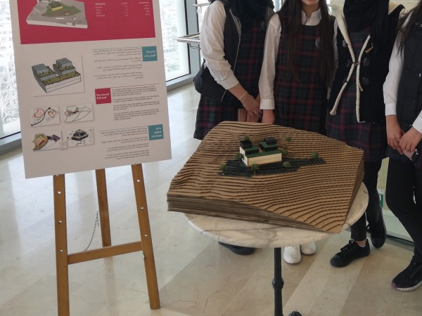 One group's project at the exhibition