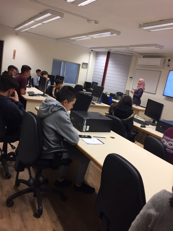 Planning classroom of high school students